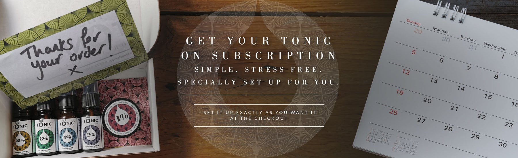 The Tonic Tribe - Main Banner - Subscribe and Save - CBD